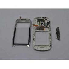 C7 Nokia Carcasa Cu TouchScreen 3 Piese Swap Argintie