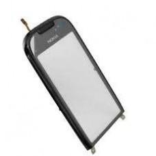 C7 Nokia Carcasa Fata Cu TouchScreen Original Swap Negru